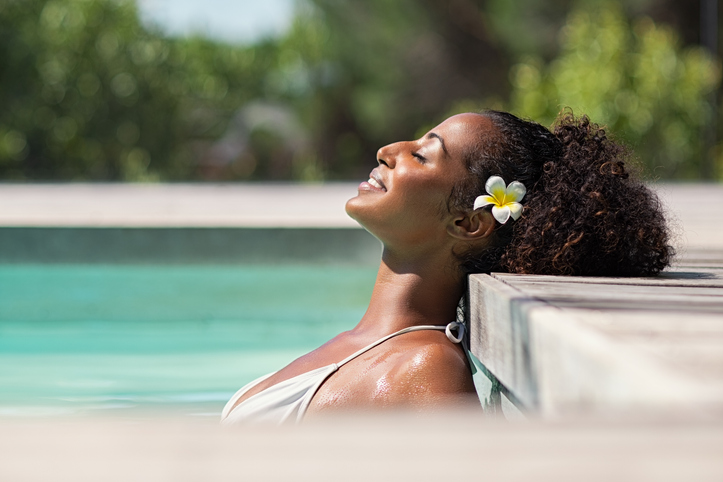 Woman In Luxury Pool